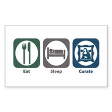Eat Sleep Curate Rectangle Decal