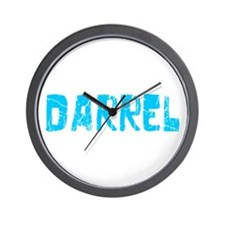 Darrel Faded (Blue) Wall Clock