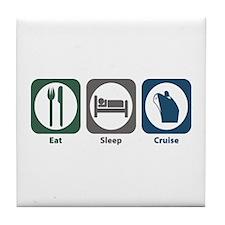 Eat Sleep Cruise Tile Coaster