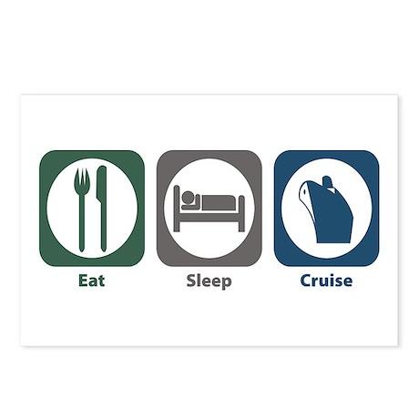 Eat Sleep Cruise Postcards (Package of 8)