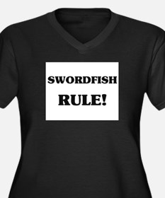 Swordfish Rule Women's Plus Size V-Neck Dark T-Shi