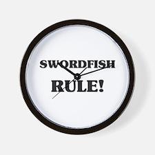 Swordfish Rule Wall Clock