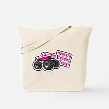 Pink Monster Truck Tote Bag