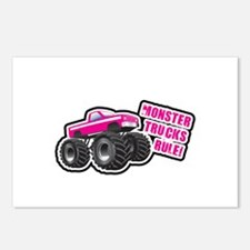 Pink Monster Truck Postcards (Package of 8)
