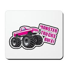 Pink Monster Truck Mousepad