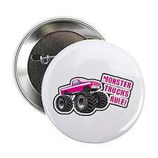 """Pink Monster Truck 2.25"""" Button"""