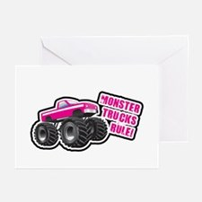 Pink Monster Truck Greeting Cards (Pk of 10)