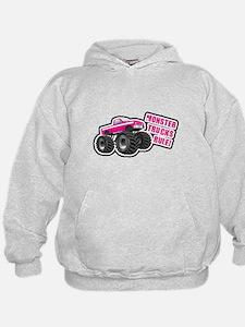 Pink Monster Truck Hoodie