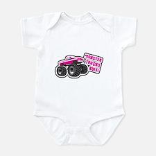Pink Monster Truck Infant Bodysuit