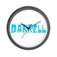 Darrell Faded (Blue) Wall Clock