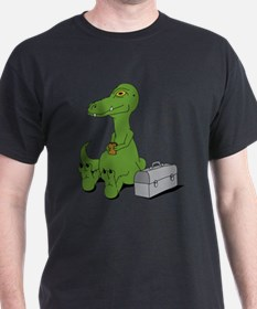 Dinosaur With A Sandwich T-Shirt