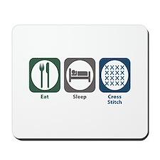Eat Sleep Cross-stitch Mousepad