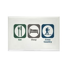 Eat Sleep Cross Country Skiing Rectangle Magnet