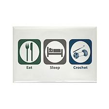 Eat Sleep Crochet Rectangle Magnet