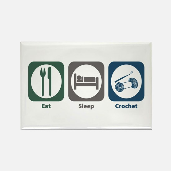 Eat Sleep Crochet Rectangle Magnet