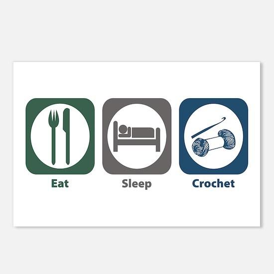 Eat Sleep Crochet Postcards (Package of 8)