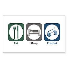 Eat Sleep Crochet Rectangle Decal