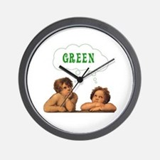 Be an Angel, Think Green Wall Clock