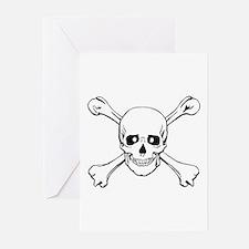 Skull & Crossbones Greeting Cards (Pk of 10)