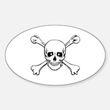 Skull & Crossbones Oval Decal