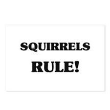 Squirrels Rule Postcards (Package of 8)