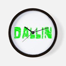 Dallin Faded (Green) Wall Clock