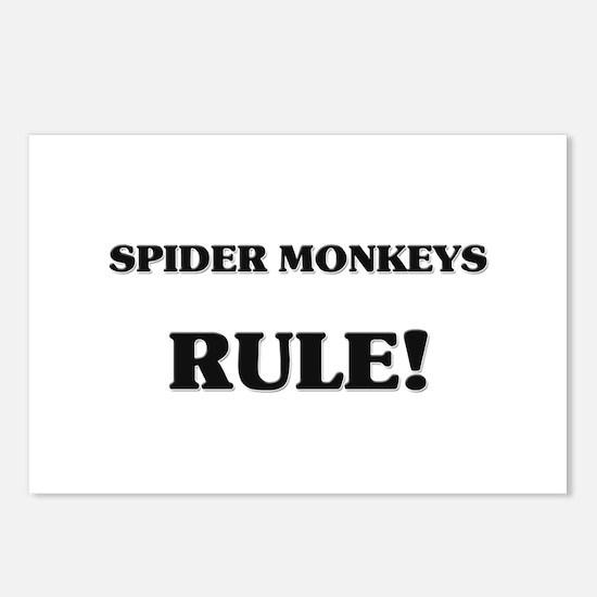 Spider Monkeys Rule Postcards (Package of 8)