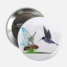 Hummingbird and Fairy Button
