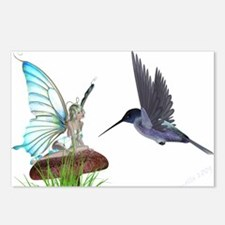 Hummingbird and Fairy Postcards (Package of 8)