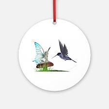 Hummingbird and Fairy Keepsake (Round)