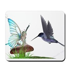 Hummingbird and Fairy Mousepad