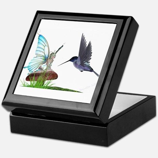 Hummingbird and Fairy Keepsake Box