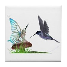 Hummingbird and Fairy Tile Coaster