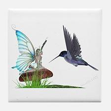 Hummingbird and Fairy Tile Coaster