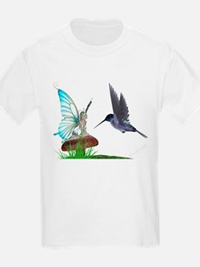 Hummingbird and Fairy Kids T-Shirt