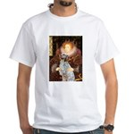 Queen / English Setter White T-Shirt