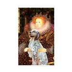 Queen / English Setter Sticker (Rectangle)