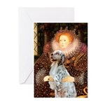 Queen / English Setter Greeting Cards (Pk of 10)