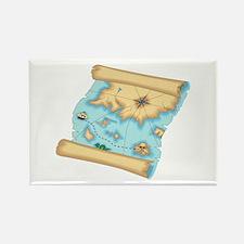 Pirate Treasure Map Rectangle Magnet