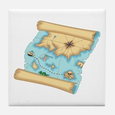 Pirate Treasure Map Tile Coaster