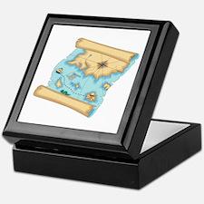 Pirate Treasure Map Keepsake Box