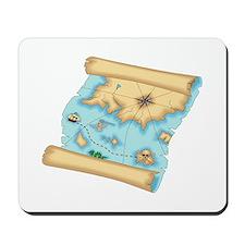 Pirate Treasure Map Mousepad