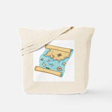 Pirate Treasure Map Tote Bag