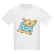 Pirate Treasure Map Kids T-Shirt