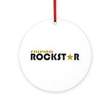 Filipino Rockstar Ornament (Round)