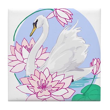 Rangoli Swanlake Tile Coaster