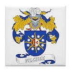 Vilchez Family Crest Tile Coaster