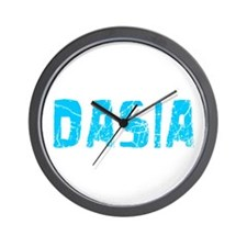 Dasia Faded (Blue) Wall Clock