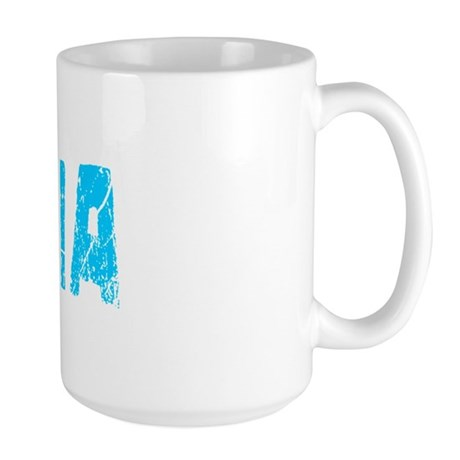 Dasia Faded (Blue) Large Mug