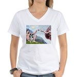 Creation / Catahoula Leopard Women's V-Neck T-Shir